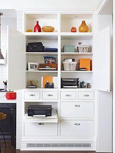 Mutfağınızda Kullanışlı Bir Ofis Tasarlamanın 20 Yolu - Ev Düzenleme Fikirleri