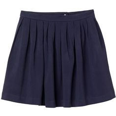 Monki Jaclyn skirt ($17) ❤ liked on Polyvore featuring skirts, mini skirts, bottoms, saias, faldas, sea shadow blue, blue skirt, blue mini skirt and monki