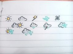 Weathers icons bullet journal Doodles                                                                                                                                                                                 More