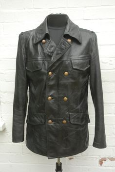 Vintage 1980 Striwa Black Double Breasted by forgedironvintage Police  Jacket 26d6f14f1