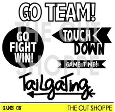 The Game On cut file set includes 5 football by TheCutShoppe, $1.50