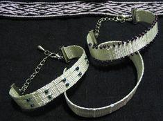 MODERNE MUSTER – Brettchenweben – Kunst und Handwerk Cuff Bracelets, Jewelry, Fashion, Modern Patterns, Arts And Crafts, Linen Fabric, Threading, Moda, Jewlery