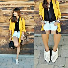 My Over-sized Mustard Blazer (by Heliely Bermudez) http://lookbook.nu/look/3825715-My-Over-sized-Mustard-Blazer