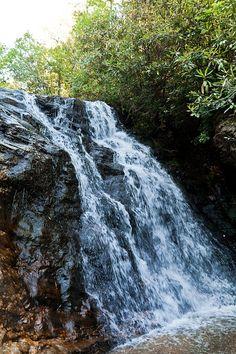 Vízesés, Hegyi, River, Patak, Természet, Víz, Zöld