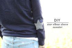 DIY Star Elbow Sleeve Sweater