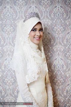 wedding dress muslimah. baju kahwin.