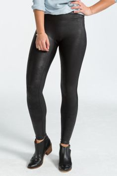When you're getting ready for a night out, these are your new go-to's. This faux leather legging with the slim panelingbuilt-in to keep you comfortable and confident all night….or day if you're daring.   Faux Leather Legging by Spanx. Clothing - Bottoms - Pants & Leggings - Leggings Georgia