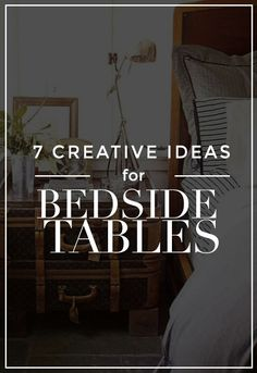 Genius Things To Use as a Bedside Table Your bedside table doesn't have to be boring! Check out these fun and creative furniture options.Your bedside table doesn't have to be boring! Check out these fun and creative furniture options. Home Bedroom, Bedroom Decor, Bedroom Night, Bedroom Ideas, Master Bedroom, Bedrooms, Unique Bedside Tables, Interior Design Tips, Interior Ideas