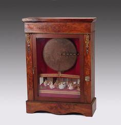 Regina Upright Table Top Disc Music Box Cabinet