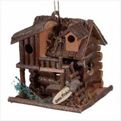 """Perfect gift for the person who loves fishing......""""Gone Fishin"""" Birdhouse at the Shopping Mall, $23.31"""