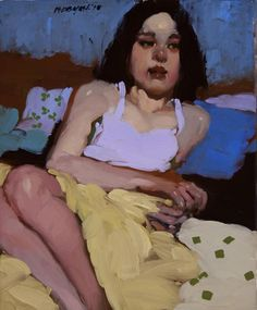 "Milt Kobayash - ""Blues""- Contemporary Artist - Figurative Painting"