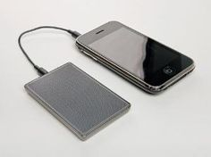 speakers, the size of a credit card, for your iPad/Phone by concetta
