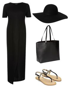 """""""Summer day - Black it all"""" by beefashionable on Polyvore featuring Mode, Monki, Old Navy, women's clothing, women, female, woman, misses und juniors"""