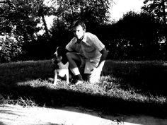 I and my doggy in the garden!!!
