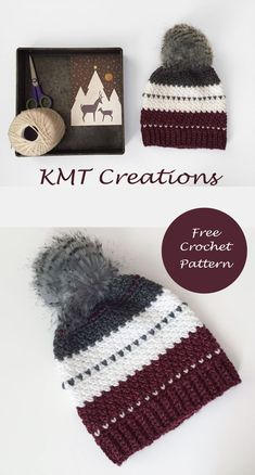 Christmas Hat | FREE Crochet Pattern | Sizes: Toddler-Large Adult
