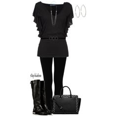 I love black outfits I Love Fashion, Curvy Fashion, Passion For Fashion, Plus Size Fashion, Fashion Ideas, Winter Fashion, Womens Fashion, Black Outfits, Winter Outfits