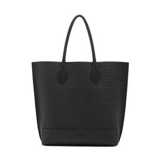 458dd660414 Blossom Tote in Black Calf Basket Weave Embossed Nappa | Women | Mulberry