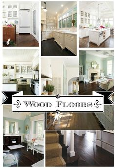 Gorgeous Dark Wood Floors My Diy Inspiration Collection Farmhouse Kitchen Cabinets, Dark Wood Floors, Home Goods Decor, Interior Design Magazine, Floor Colors, Home Upgrades, Diy Flooring, Rustic Farmhouse, Home Remodeling