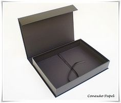 Caixa Portfólio A4 com fecho imã