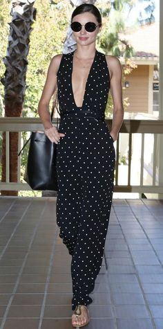 Look of the Day - May 13, 2015 - Miranda Kerr plunging neckline in gorgeous jumpsuit - Part 2 from #InStyle