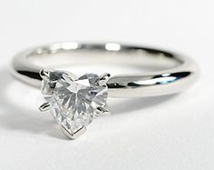 Classic Comfort Fit Engagement Ring in Platinum #BlueNile