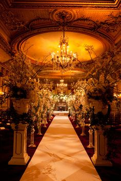 These 10 gorgeous wedding ceremony decor ideas will knock your socks off. Indoors and outdoors, featuring all styles: classic, contemporary, destination and Wedding Blog, Wedding Events, Dream Wedding, Wedding Stuff, Exotic Wedding, Fantasy Wedding, Indoor Wedding, Wedding Pins, Church Wedding