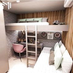 40 + modern and dreamy dorm & bedroom design ideas for you - Page 31 of 44 - SooPush Bedroom Decor For Couples Small, Small Girls Bedrooms, Small Space Bedroom, Small Bedroom Designs, Small Room Decor, Small Room Design, Small Spaces, Small Small, Decor Room