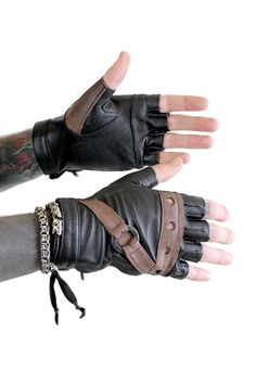 Five and Diamond Steam Trunk Nautical Gloves - No Chain