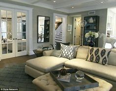 Add molding to walls and french doors [Giuliana rancic house]
