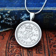 60th Gift for Her, 60th Necklace, 70th Necklace, Sixpence 1947-67, 1959 60th Mum, 1949 70th, Bride Sixpence Necklace, English Coin Necklace