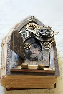 Steampunk book art