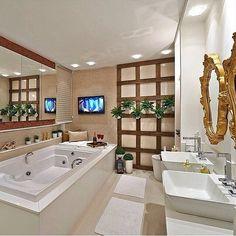 banheiro bege branco madeira