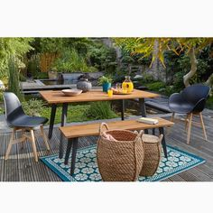 Table de jardin, acacia FSC®*, Hiba