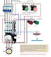 Esquemas eléctricos: Esquema eléctrico arranque de motor con marcha par...