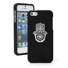 "Amazon.com: Apple iPhone 6 (4.7"") Snap On 2 Piece Rubber Hard Case Cover Hamsa Hand (Black): Cell Phones & Accessories"