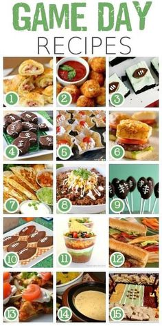 Game Day Recipes #tailgating #football #gameday #recipes