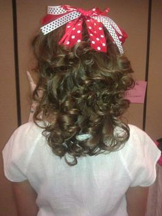 Natural pageant hair