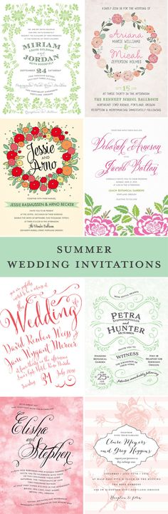 Beautiful, On-Trend Summer #Wedding Invitations from Evermine.com! Order your FREE ‪Wedding‬ Invitation Sample Kit, with six free Evermine invitation designs of your choice!