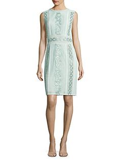 Tadashi Shoji - Roundneck Sleeveless Floral Dress