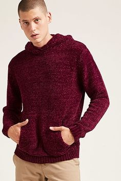 Hooded Chenille Sweater