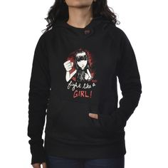 FIGHT LIKE A GIRL PULL OVER HOODY