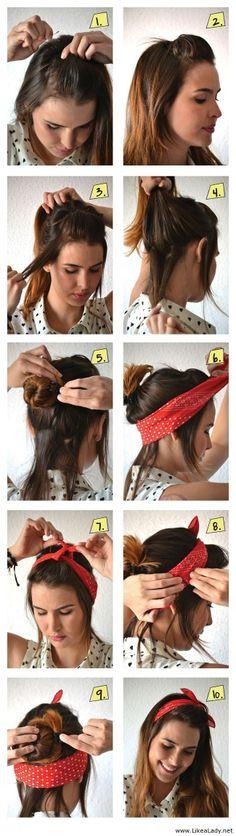 A scarf like a hair accessory