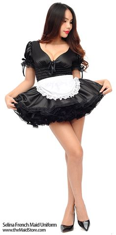 Best handmade French maid and sissy dresses, costumes lingerie vintage stockings suspenders sissywear Maid Outfit, Maid Dress, French Maid Uniform, French Maid Costume, Maid Cosplay, Vintage Stockings, Stockings And Suspenders, People Dress, Costumes For Women
