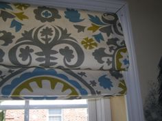 Traditional Roman Shades - You pick fabric-she makes them custom for you- from etsy.com $105