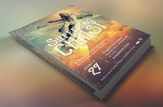 Christ Suffering Flyer Template by Godserv Graphics on @creativemarket