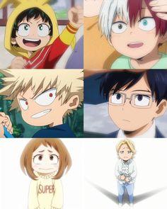 Omg how cuteeeeee my hero academia my hero academia, my hero Boku No Hero Academia, My Hero Academia Memes, Hero Academia Characters, My Hero Academia Manga, Anime Characters, Anime Figures, Anime Kid, Dark Fantasy, Film Anime