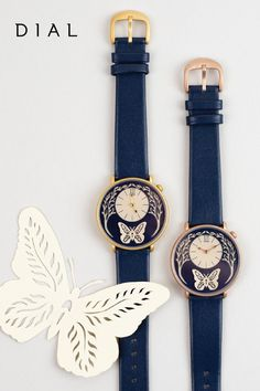 The first watch from Dial Watches is the whimsical and elegant Butterfly Watch designed by Sarah Dennis.