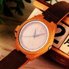 Minimalist Wooden Watch Genuine Leather by PhilsGiftShop #wedding #bride #weddings #bridal #love #fashion http://etsy.me/1WDMksa  via @Etsy