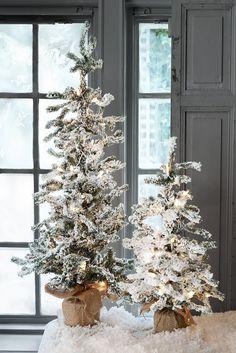 Snow Trees - Create your own mini-wonderland | Soft Surroundings