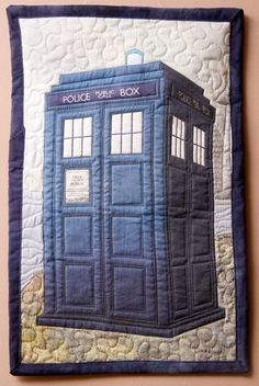 Tardis Quilt (dr who,tardis,homemade,quilt,sewing,awesome)